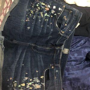 Paint splattered shorts